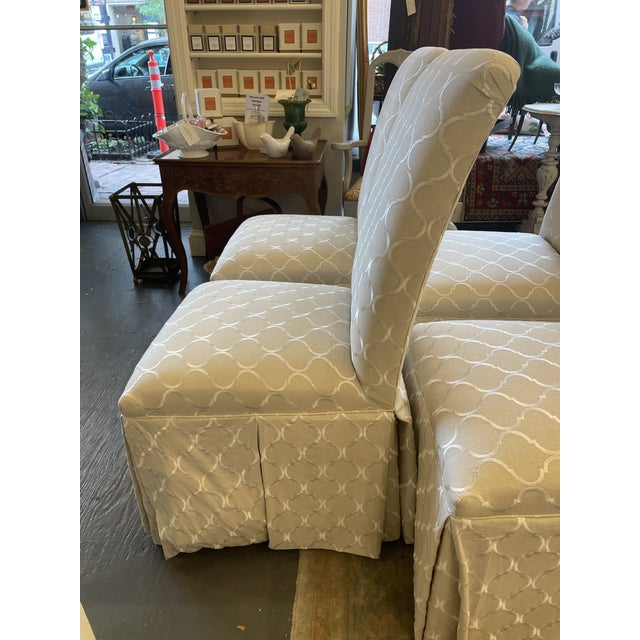 1960s 1960s Vintage Parsons Style Slipper Chairs - Set of 4 For Sale - Image 5 of 7