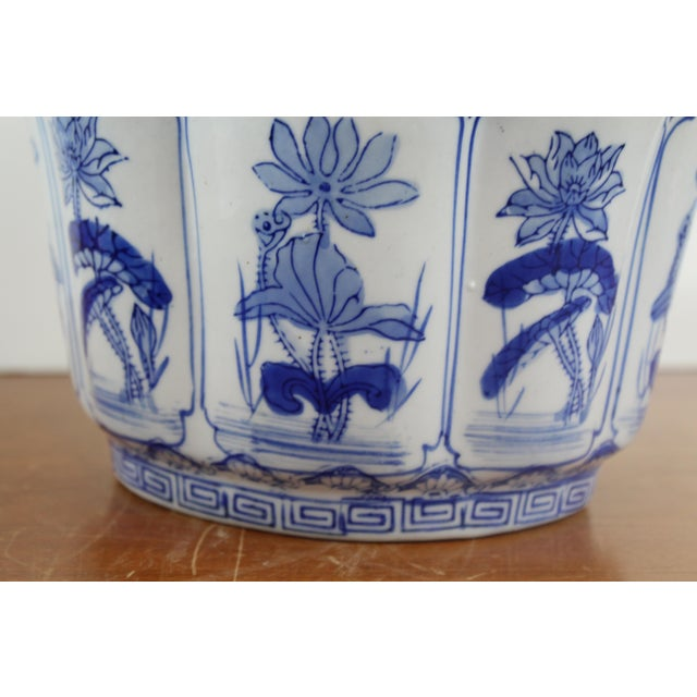 Vintage Mid Century Small Lotus Planter For Sale - Image 4 of 6
