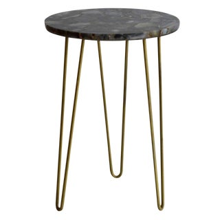 Modern Erdos + Ko Deep Blue Agate Table For Sale