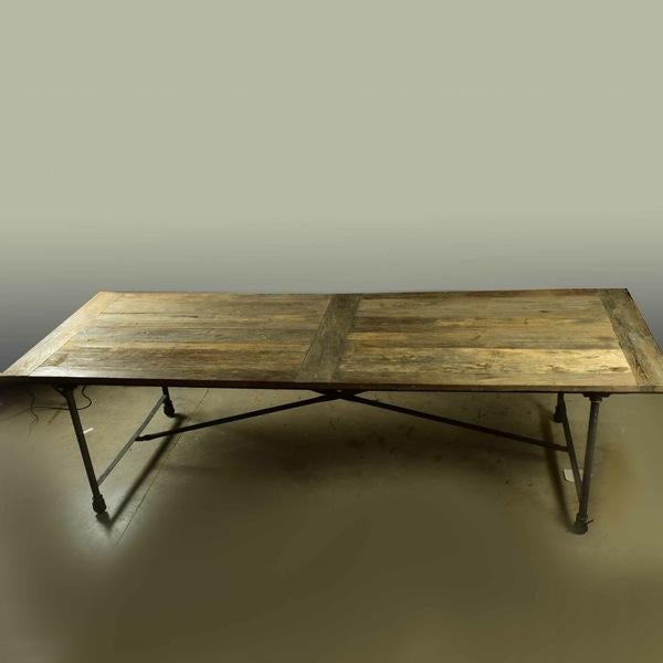 Restoration Hardware, never actually been used. Beautiful rustic, reclaimed wooden dining table. The top is made from...