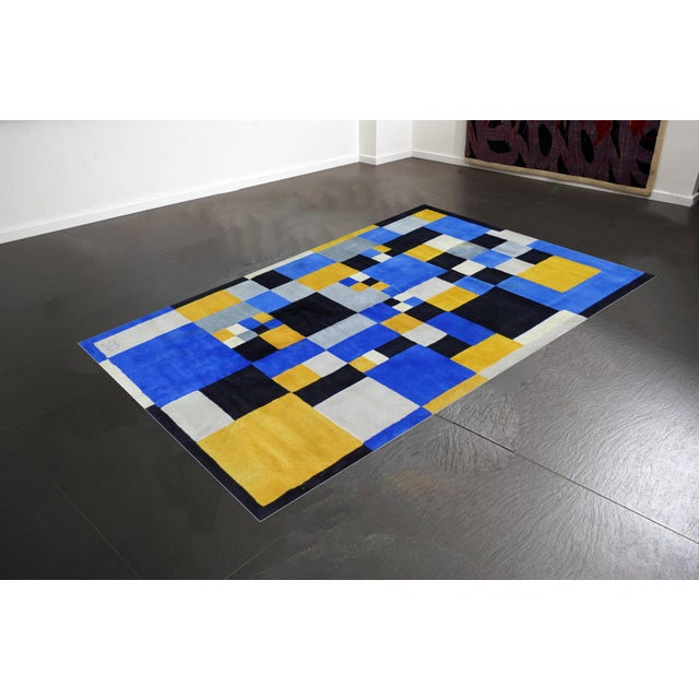 """Rug designed by Sonia Delaunay (France, 1885 – 1979) Title: """"Magic Squares"""" (Carrés Magiques) circa 1980s Wool rug..."""