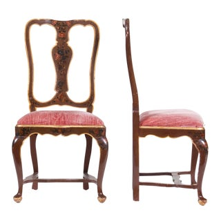 Venetian Painted Chairs - A Pair