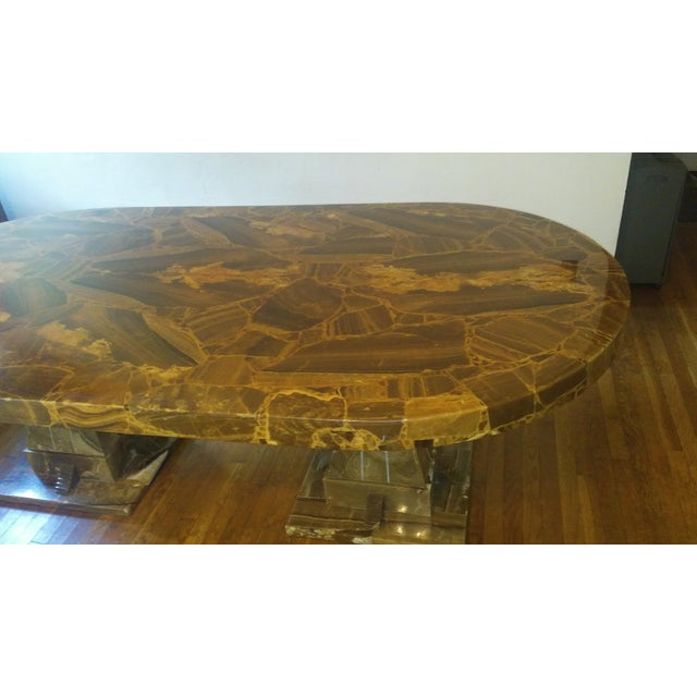 1970s Mid Century Muller of Mexico Onyx Dining Table For Sale - Image 5 of 10