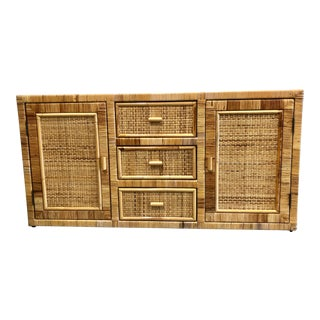1970s Boho Chic Tropical Chic Cabinet For Sale