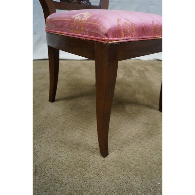Kindel Neoclassical Mahogany Lyre Back Chairs - 4 - Image 8 of 9