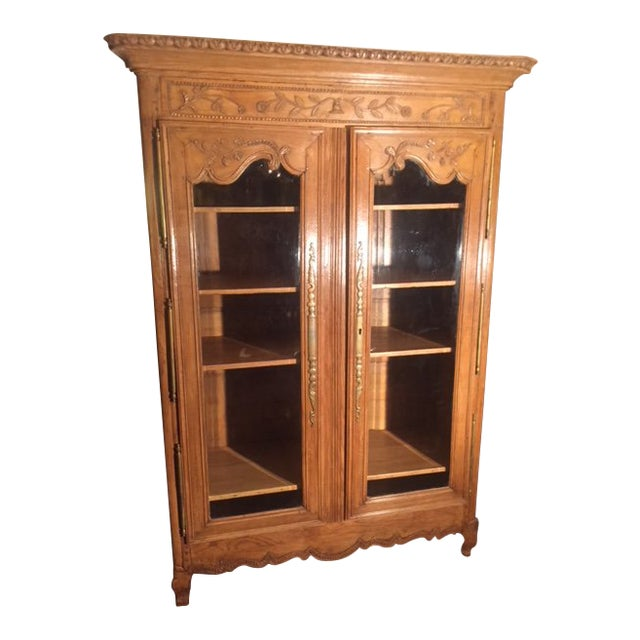 Early 19th Century French Carved Bibliotech Display Cabinet For Sale
