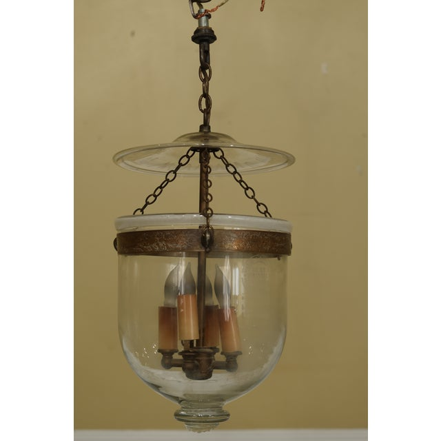 Transparent Vintage De Grelle Belgium Bell Form Chandelier Light Fixture For Sale - Image 8 of 8