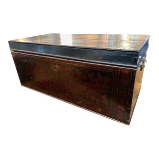 19th Century Red and Black Lacquered Indonesian Document Box For Sale