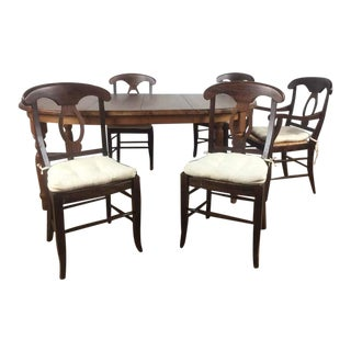 Pottery Barn Dark Walnut Dining Suite - 6 Pieces