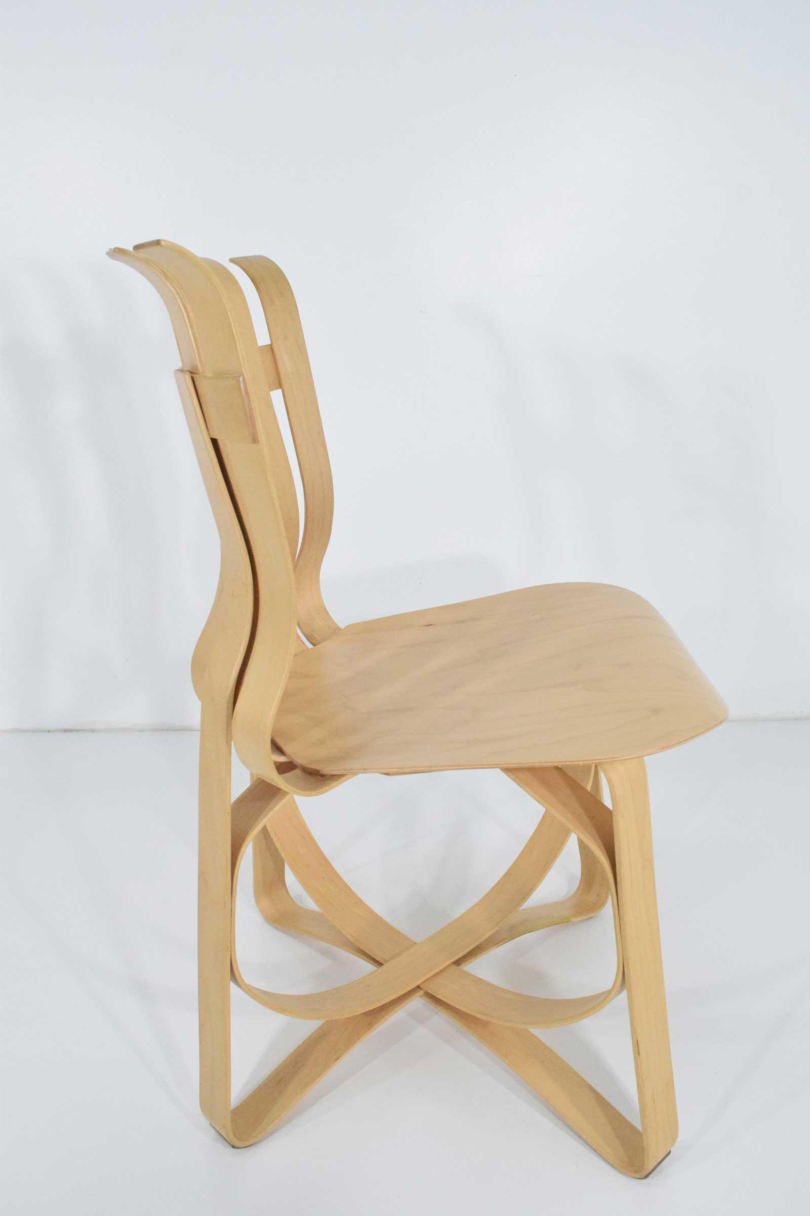 Maple Frank Gehry Hat Trick Chairs   Set Of 4 For Sale   Image 7 Of