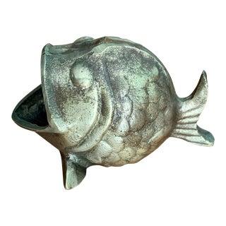 Boho Brass Fish Ashtray For Sale