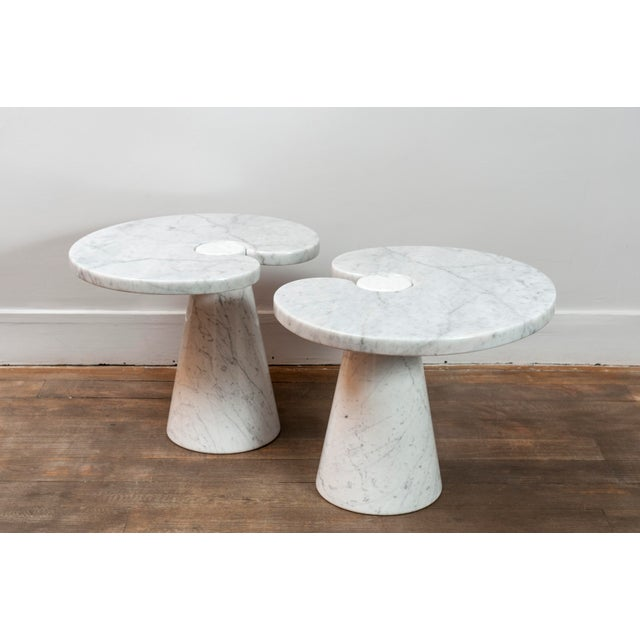 """Skipper Pair of Marble """"Eros"""" Tables by Mangiarotti For Sale - Image 4 of 11"""