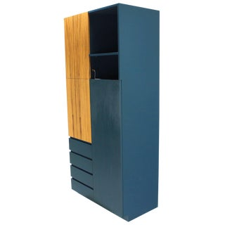 Signed Vladimir Kagan Modern Tall Liquor Cabinet Bar. For Sale