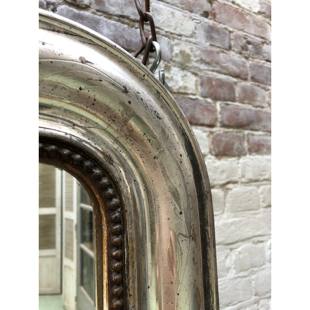 French French 19th Century Silver Leaf Gilded Mirror For Sale - Image 3 of 8