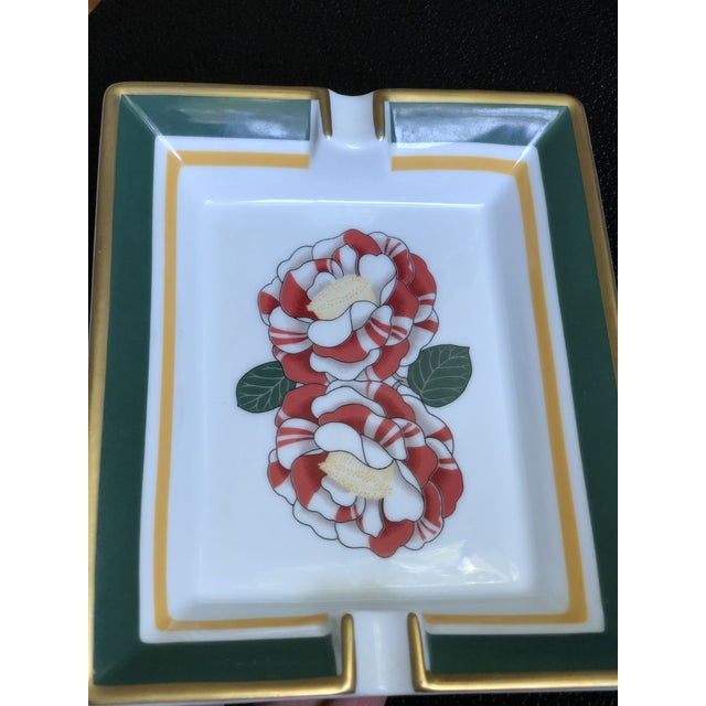 Late 20th Century Hermes Paris Porcelain Ashtray For Sale - Image 5 of 13
