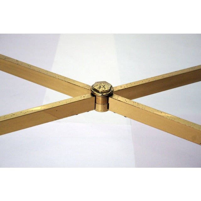 La Barge Style Brass Cocktail Table - Image 7 of 8