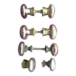 Mercury Glass Door Knobs - 4 Sets For Sale
