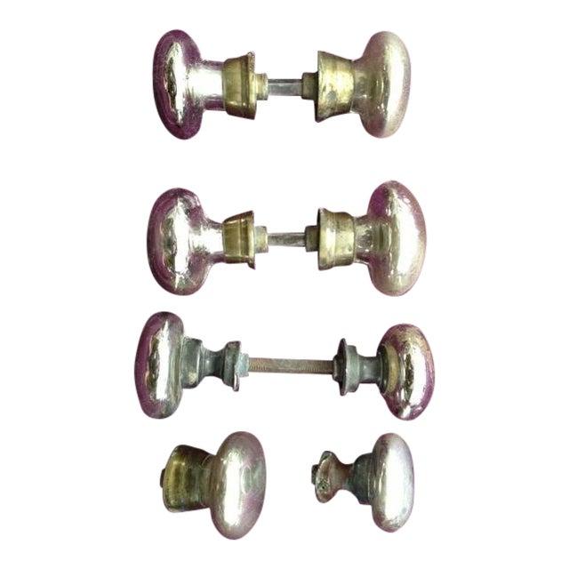 Mercury Glass Door Knobs - 4 Sets For Sale