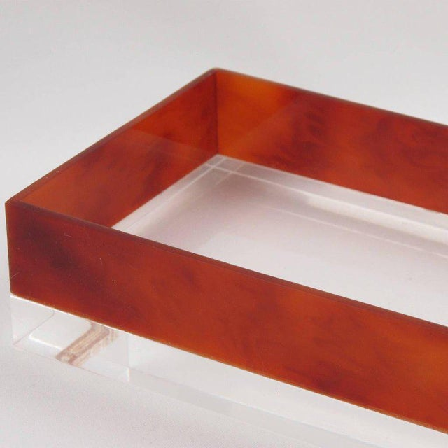 French Mid-Century Modern Rectangular Lucite Box - Image 6 of 8