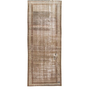 Vintage Brown Malayer Handmade Wool Runner For Sale