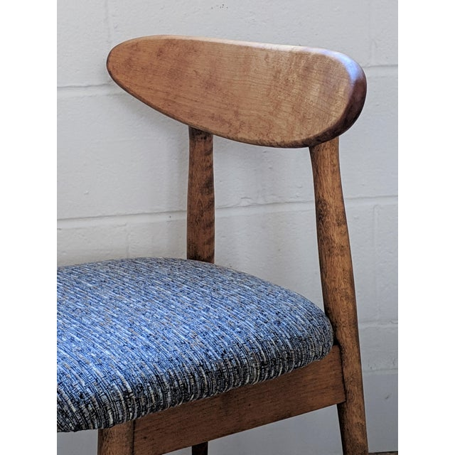 Blue 1960s Vintage Baumritter Style Side Chair For Sale - Image 8 of 11