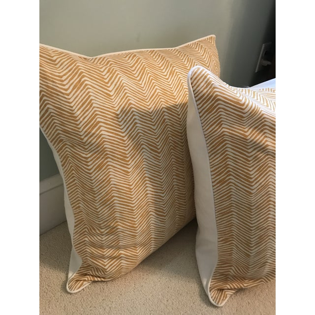 Traditional Quadrille China Seas Zig Zag Pillows - a Pair For Sale - Image 3 of 7