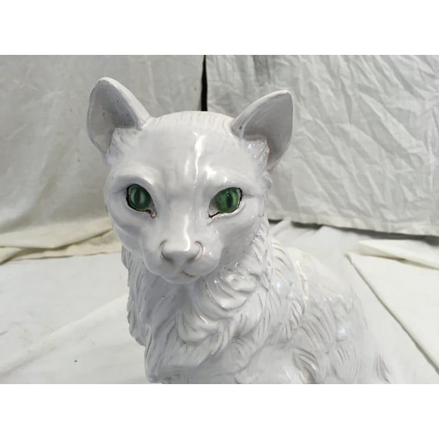 Ceramic Italian Terracotta Cat Figure For Sale - Image 7 of 10