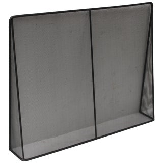 Custom Modern Metal Fireplace Screen by Jed Design For Sale
