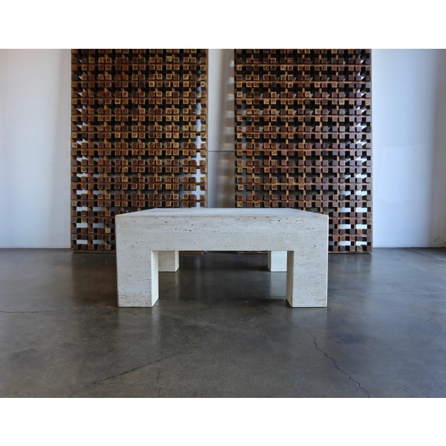Stone Travertine Coffee Table For Sale - Image 7 of 9