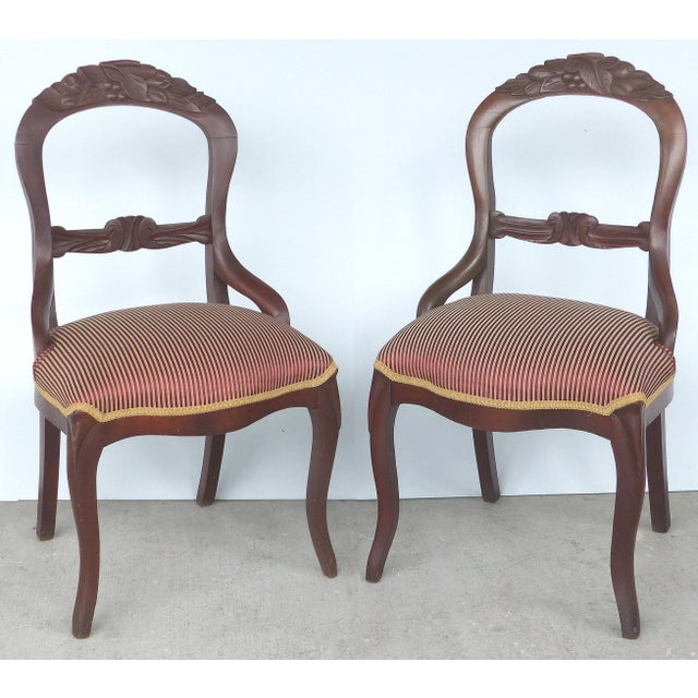 Balloon Back Dining Chairs-A Pair For Sale - Image 12 of 12