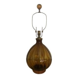 1960s Blenko Art Glass Lamp For Sale