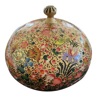 Mid 20th Century Hand Painted Trinket Box For Sale