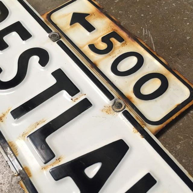 Vintage Enamel Street Sign - Crestlake - Image 3 of 4