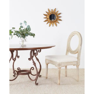 Italian Oak and Scrolled Iron Round Dining Table Preview