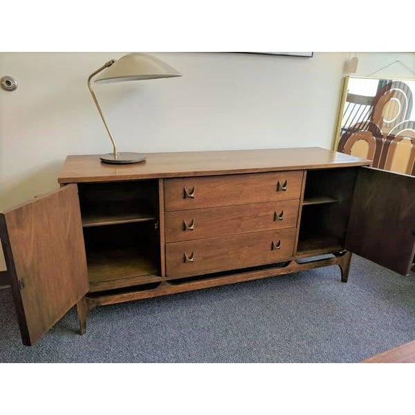 Mid-Century Modern 1960s Mid-Century Broyhill Brasilia Lowboy Credenza For Sale - Image 3 of 12