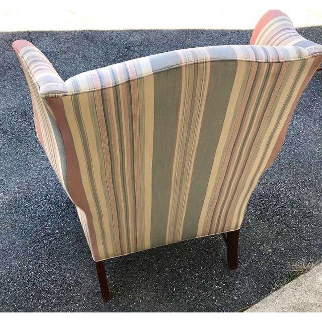 Late 20th Century Late 20th Century Chippendale Style Wing Chair For Sale - Image 5 of 6