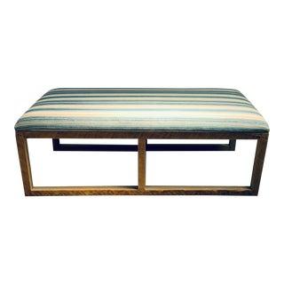 Tim Clarke Design Blue Striped Bench For Sale