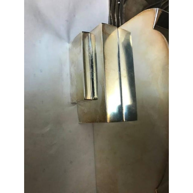 Transparent French Art Deco Sconces With Geometric Motif - a Pair For Sale - Image 8 of 9