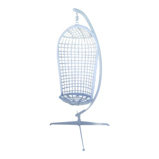 Vintage Russell Woodard Hanging Birdcage Swing For Sale