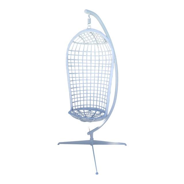 Vintage Russell Woodard Hanging Birdcage Swing For Sale