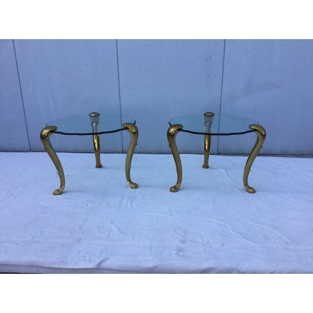 1970's Modern Tripod Brass Side Tables - 2 - Image 2 of 11