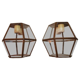 1930s French Outdoor/Indoor Copper Sconces - a Pair For Sale
