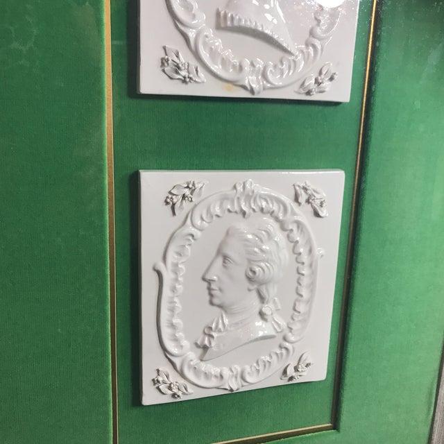 Ceramic Vintage Georgian Era Framed Ceramic Tiles For Sale - Image 7 of 8