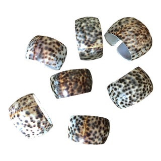 Cowrie Shell Napkin Rings - Set of 7 For Sale