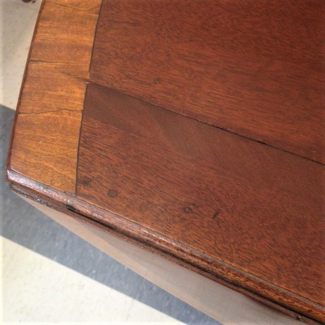 18th Century English Hepplewhite Inlaid Mahogany Pembroke Table With Oval Leaves For Sale In Boston - Image 6 of 13