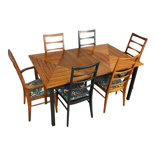 Mid Century Modern Dining Set by Stanley For Sale