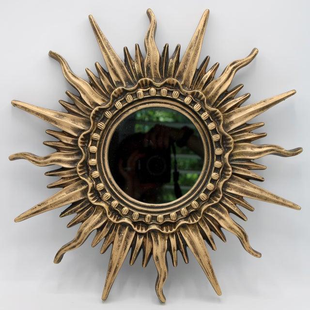 Art Nouveau Antique French Sunburst Mirror For Sale - Image 3 of 13