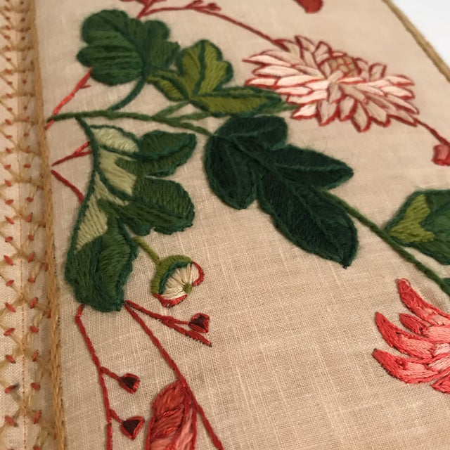 Small Floral Crewelwork Screen For Sale - Image 10 of 13