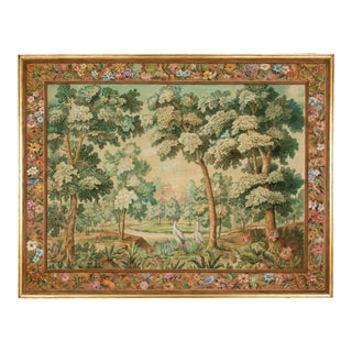French Mid Century Tapestry Painting by André Turin For Sale