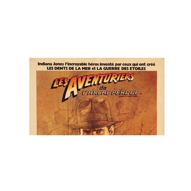 """This original French Indiana Jones movie by Richard Amsel was produced in 1981 and reads """"Les Aventuriers de L 'Arche..."""
